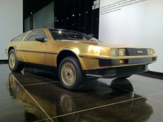 One of only 2 gold-plated Deloreans ever sold.
