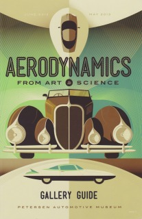 Aerodynamics exhibit brochure: Petersen Automotive Museum
