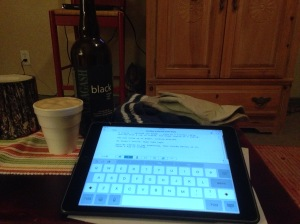 I went away to a cabin in the mountains to watch old movies, drink beer in a styrofoam cup, and write the script